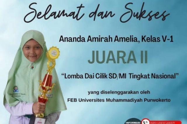 Juara II Lomba Da'i cilik SD/MI tingkat Nasional