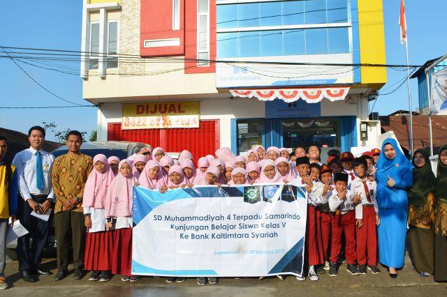 Kunjungan Belajar SD Muhammadiyah 4 Terpadu Samarinda - Bank Kaltimtara Syariah Sempaja